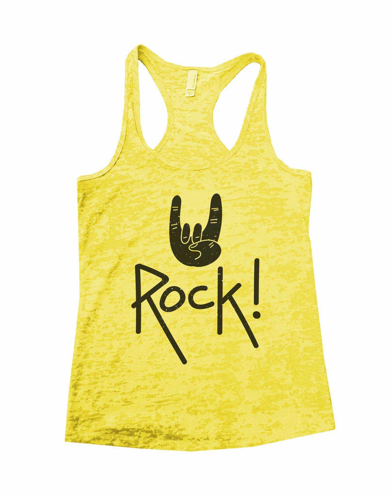 Rock Star Status Womens Burnout Tank Top By Funny Threadz Funny Shirt Small / Yellow
