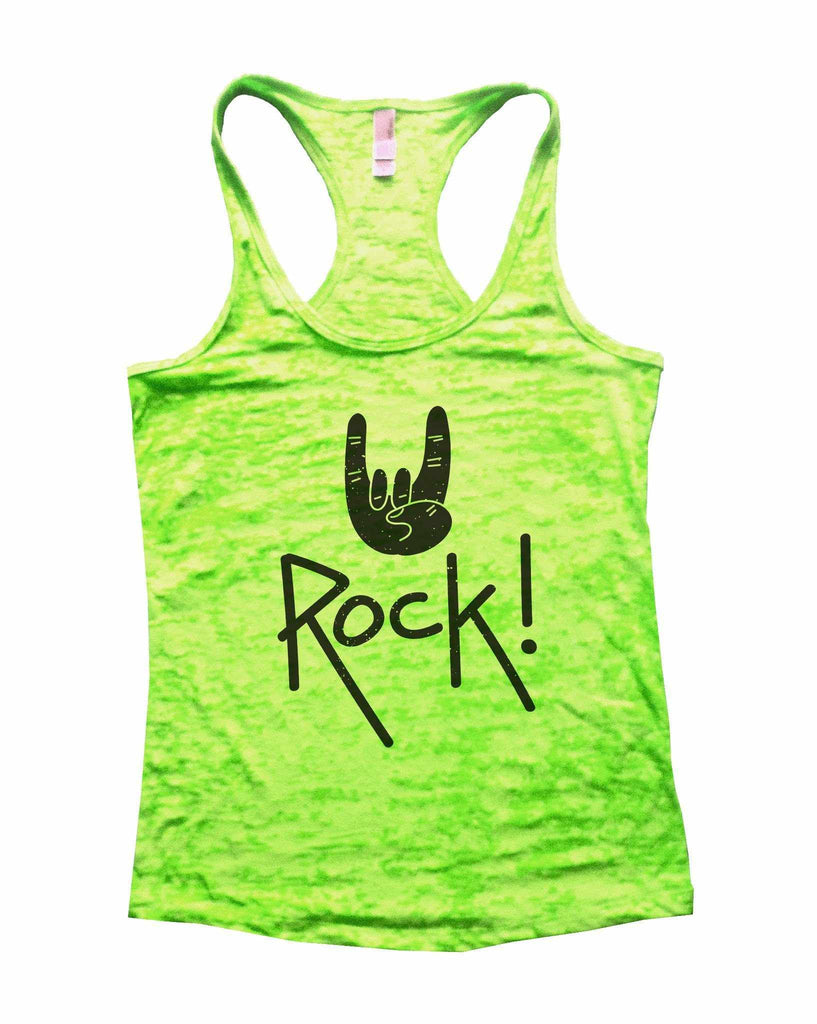 Rock Star Status Womens Burnout Tank Top By Funny Threadz Funny Shirt Small / Neon Green