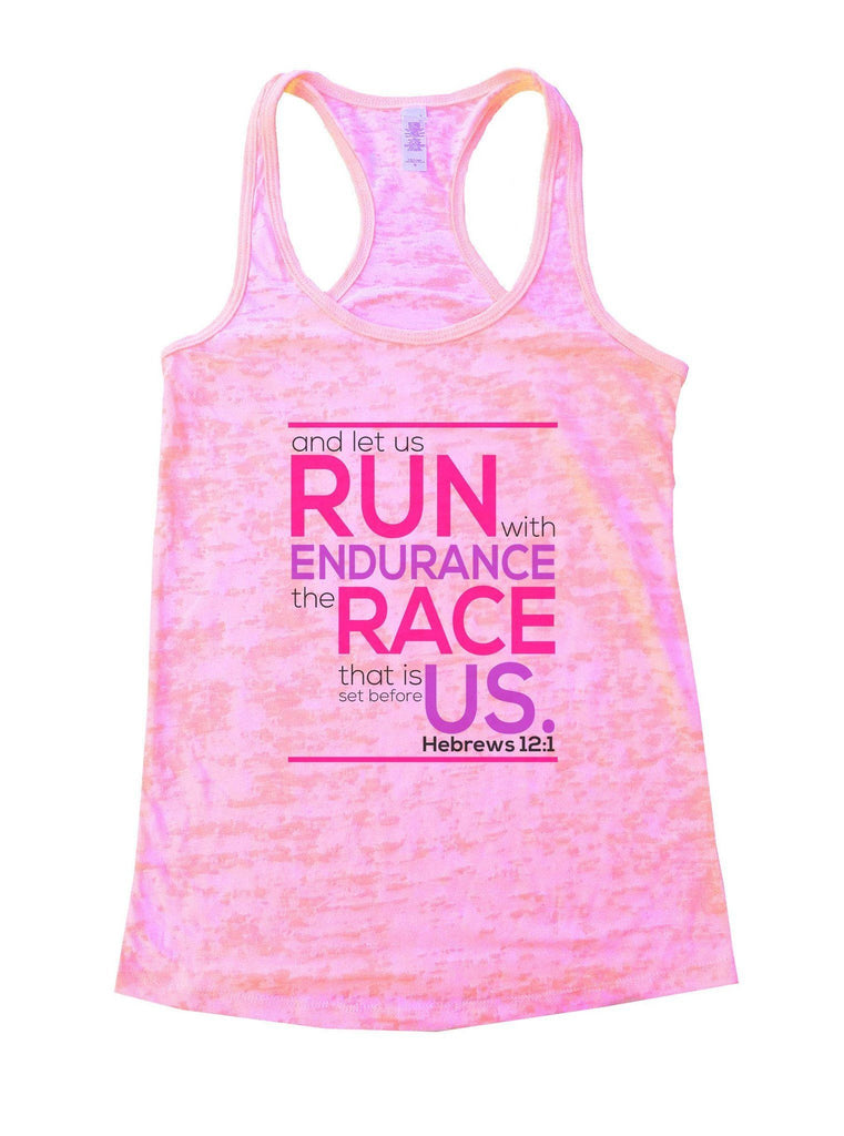 Run Endurance Race Us Burnout Tank Top By Funny Threadz Funny Shirt Small / Light Pink