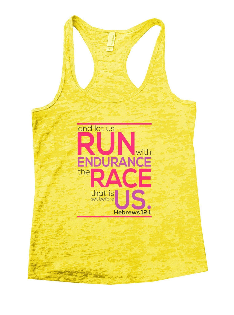 Run Endurance Race Us Burnout Tank Top By Funny Threadz Funny Shirt Small / Yellow