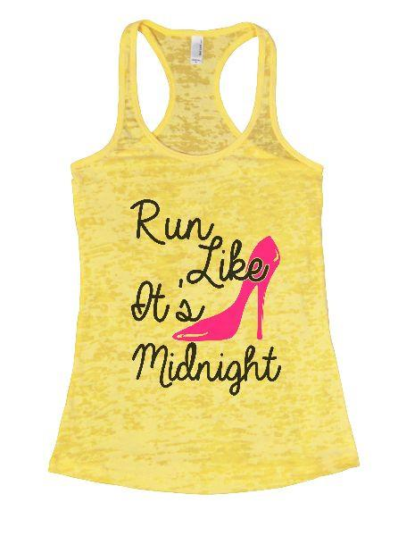 Run Like It's Midnight Burnout Tank Top By Funny Threadz Funny Shirt Small / Yellow