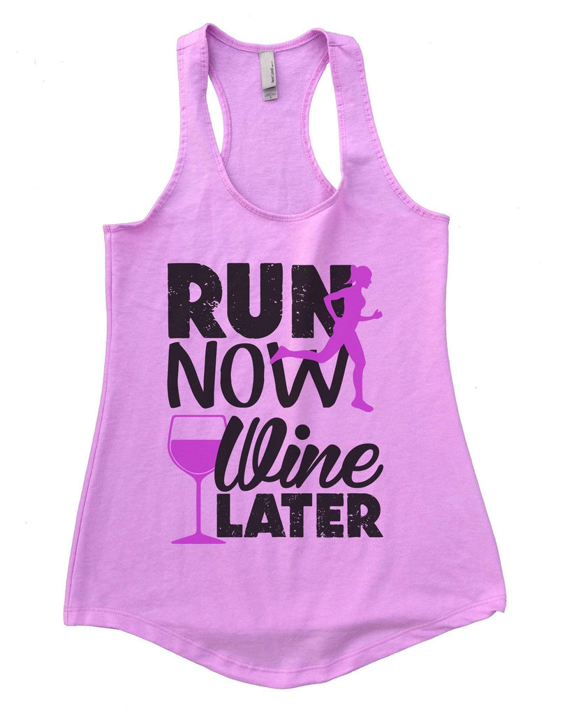 Run Now Wine Later Womens Workout Tank Top Funny Shirt Small / Lilac