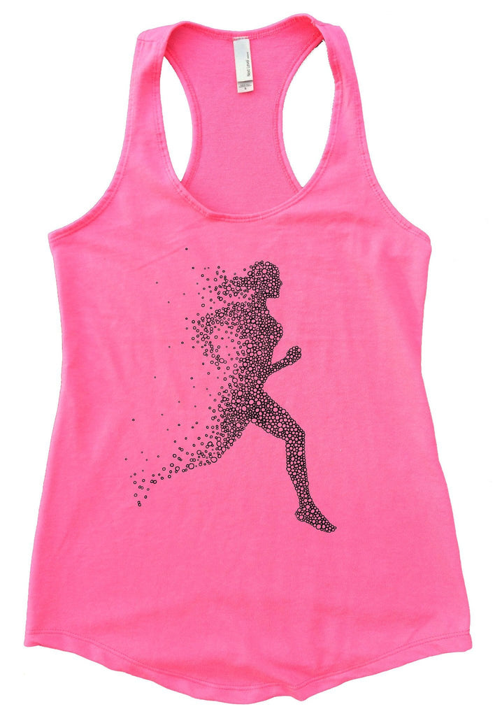 Run Womens Workout Tank Top Funny Shirt Small / Heather Pink