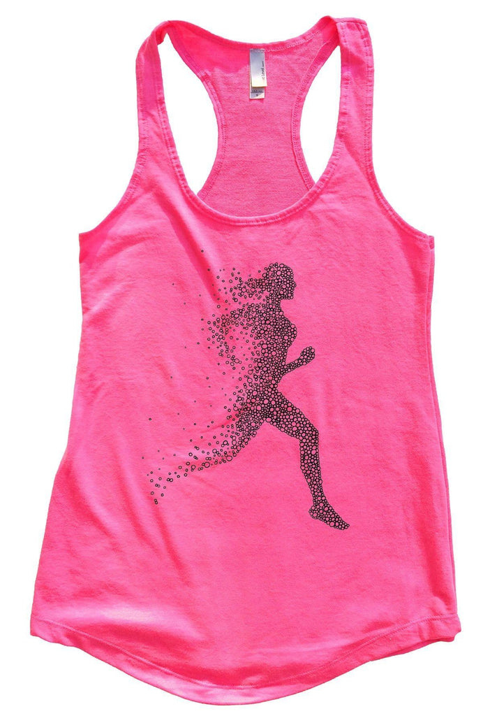 Run Womens Workout Tank Top Funny Shirt Small / Hot Pink
