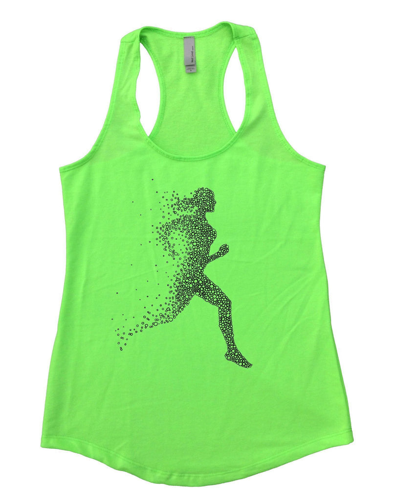 Run Womens Workout Tank Top Funny Shirt Small / Neon Green