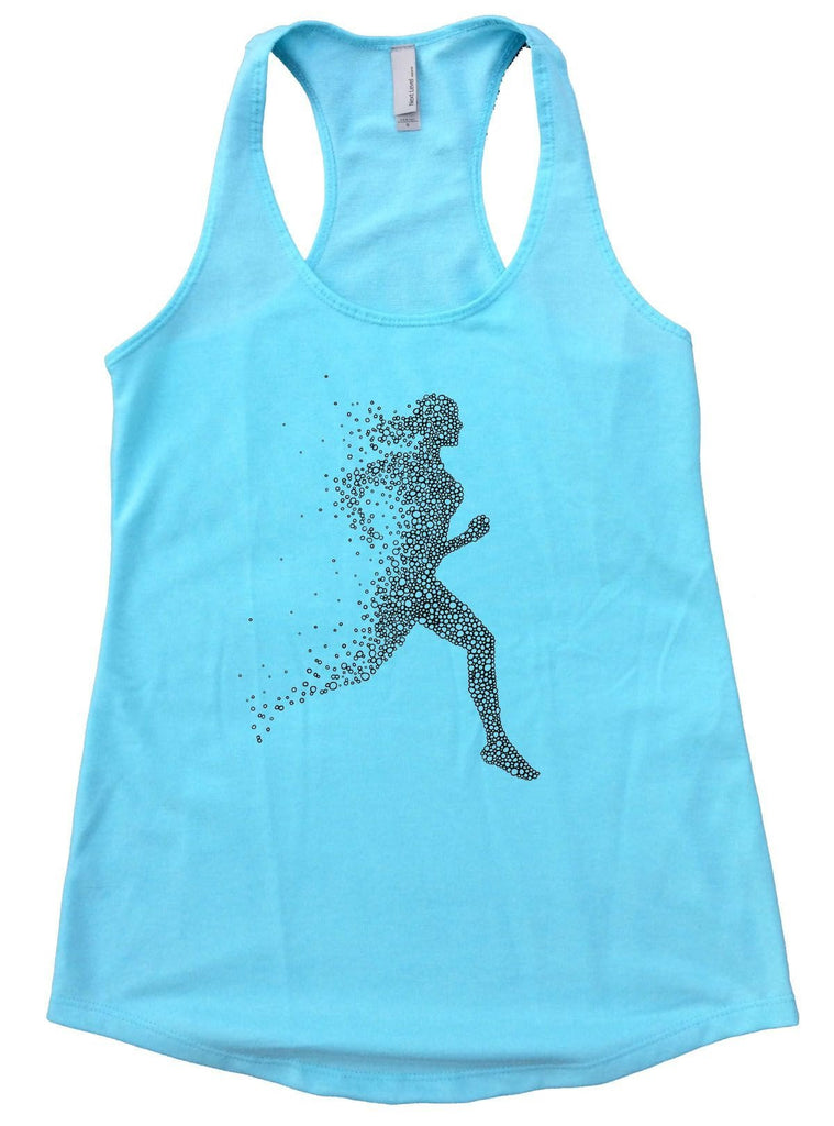Run Womens Workout Tank Top Funny Shirt Small / Cancun Blue