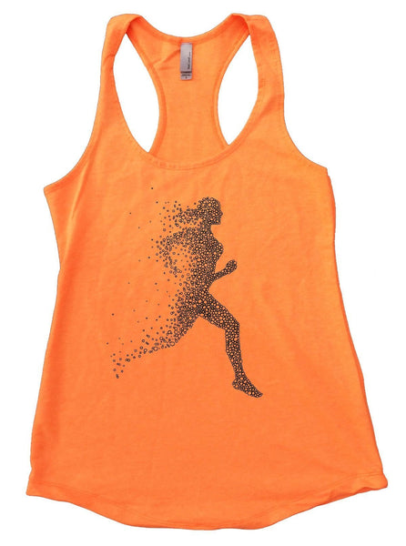 Run Womens Workout Tank Top Funny Shirt Small / Neon Orange