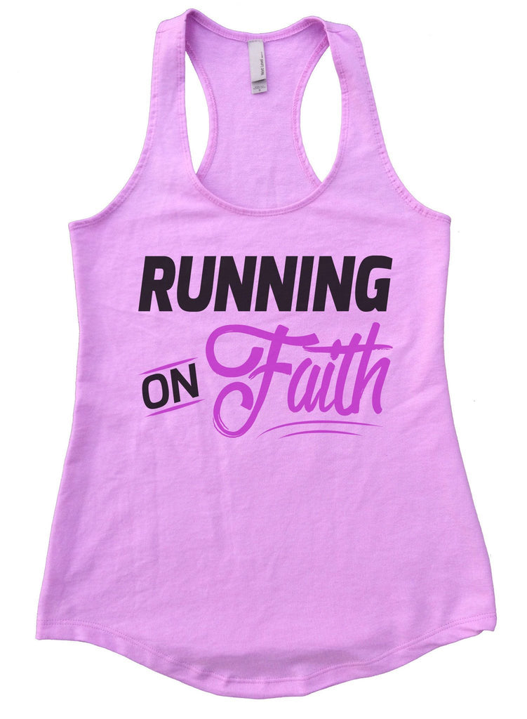 Running On Faith Womens Workout Tank Top Funny Shirt Small / Lilac