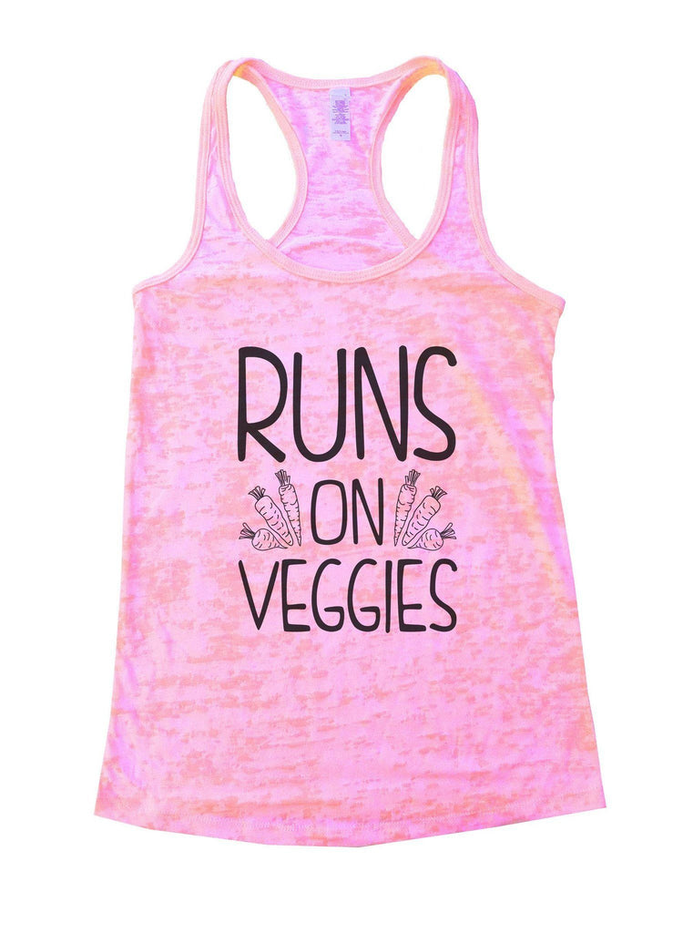 Runs On Veggies Burnout Tank Top By Funny Threadz Funny Shirt Small / Light Pink