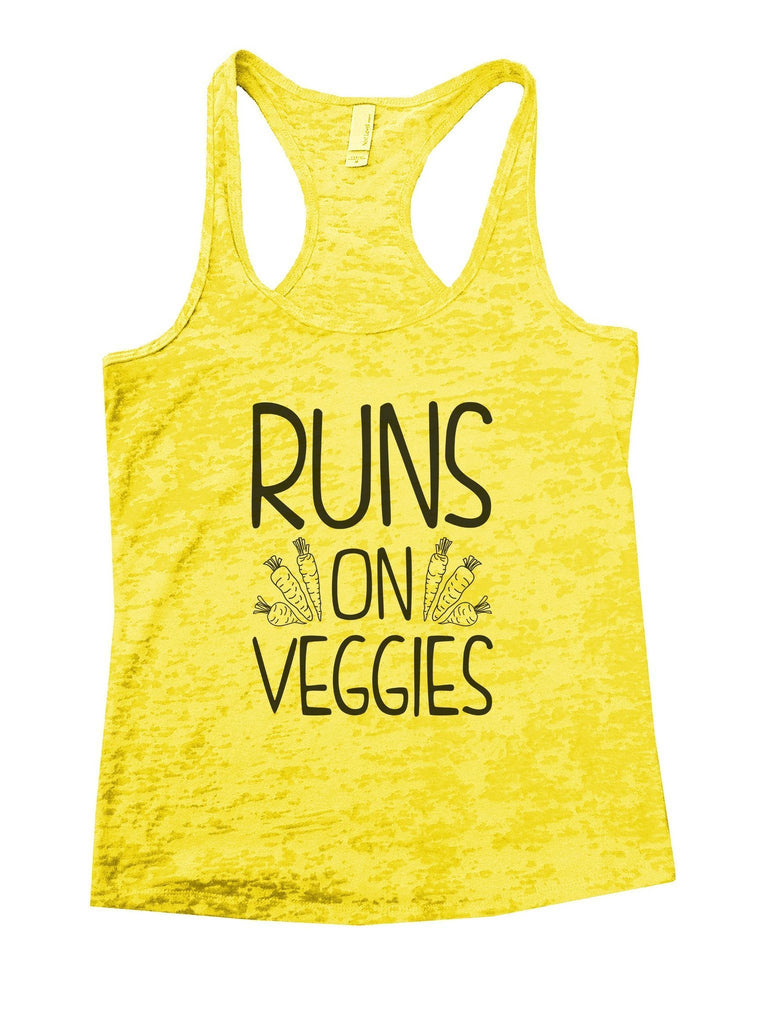 Runs On Veggies Burnout Tank Top By Funny Threadz Funny Shirt Small / Yellow