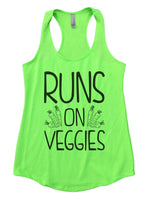 Runs On Veggies Womens Workout Tank Top Funny Shirt Small / Neon Green