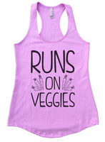 Runs On Veggies Womens Workout Tank Top Funny Shirt Small / Lilac