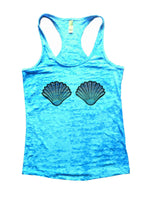 Shell Burnout Tank Top By Funny Threadz Funny Shirt Small / Tahiti Blue