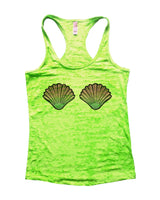Shell Burnout Tank Top By Funny Threadz Funny Shirt Small / Neon Green