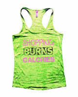 Shopping Burns Calories Burnout Tank Top By Funny Threadz Funny Shirt Small / Neon Green