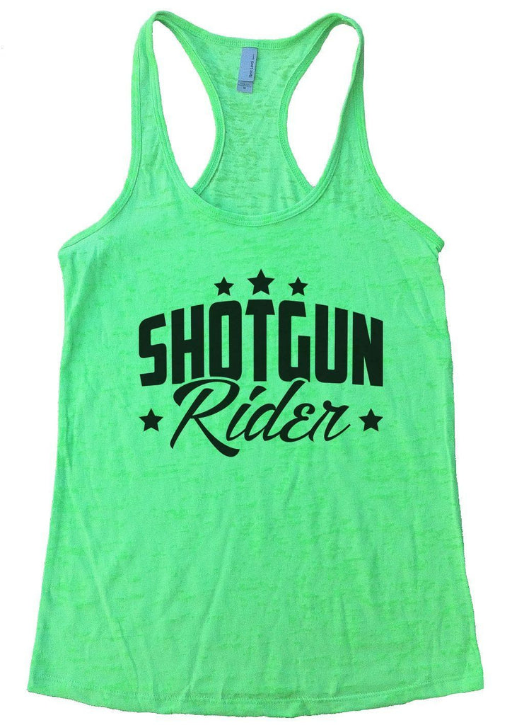 SHOTGUN Rider Burnout Tank Top By Funny Threadz Funny Shirt Small / Neon Green