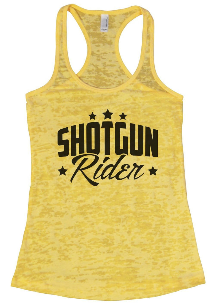 SHOTGUN Rider Burnout Tank Top By Funny Threadz Funny Shirt Small / Yellow