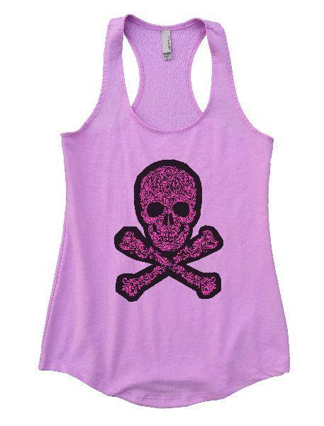 Skull Womens Workout Tank Top Funny Shirt Small / Lilac