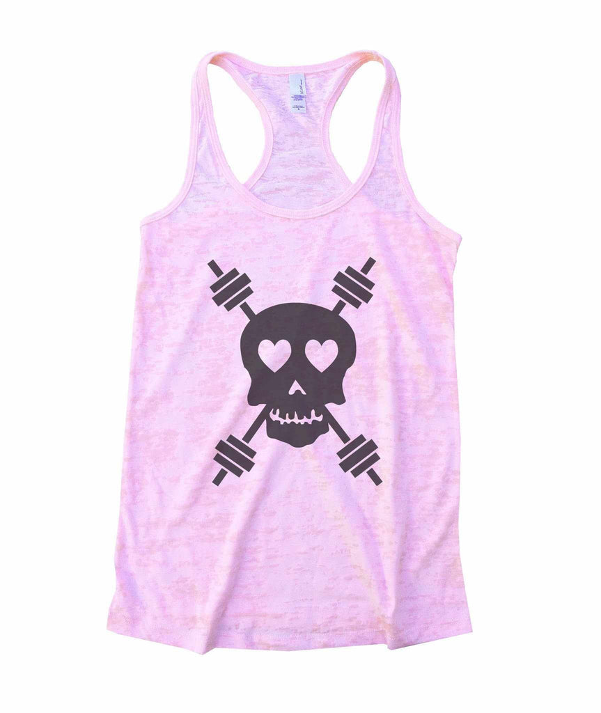 Skulls Womens Burnout Tank Top By Funny Threadz Funny Shirt Small / Light Pink
