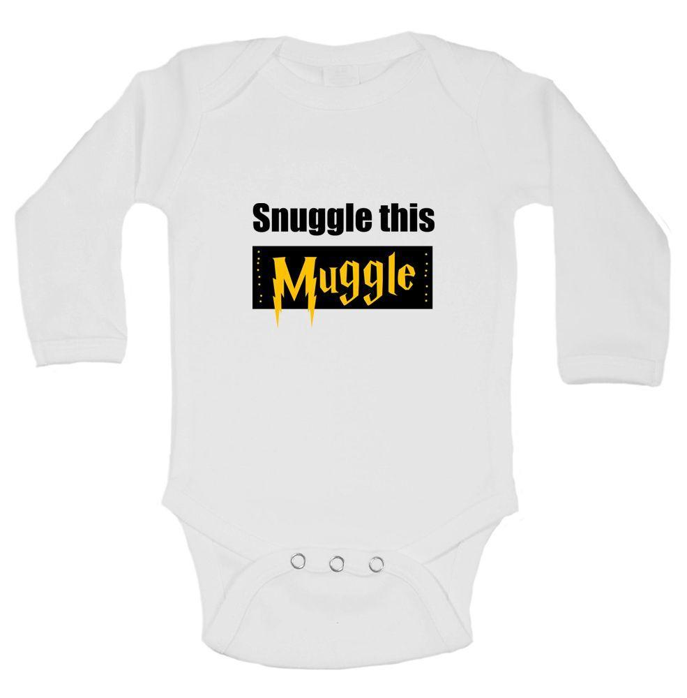 Snuggle This Muggle Funny Kids Onesie Funny Shirt Long Sleeve 0-3 Months