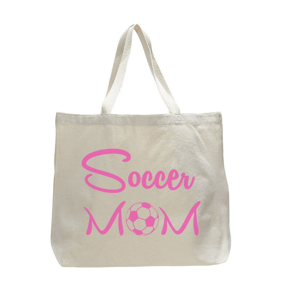 Soccer Mom Tank - Trendy Natural Canvas Bag - Funny and Unique - Tote Bag - FunnyThreadz.com