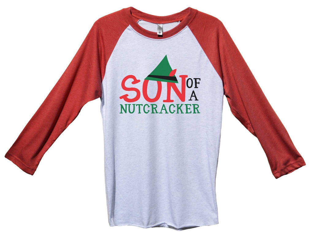 8a9a888f5 ... Son Of A Nutcracker Funny Christmas - Unisex Baseball Tee Mens And  Womens Funny Shirt Extra ...