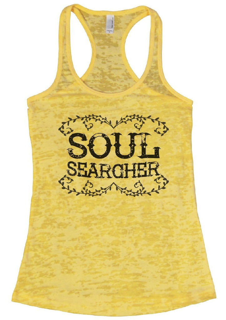 SOUL SEARCHER Burnout Tank Top By Funny Threadz Funny Shirt Small / Yellow