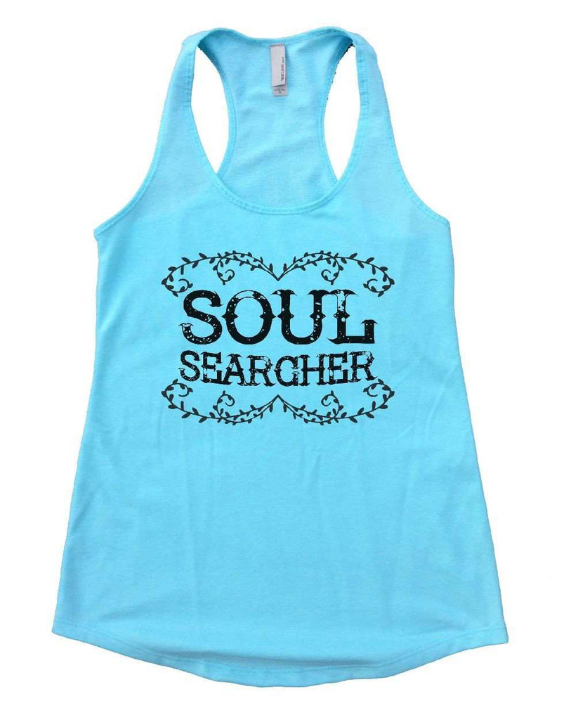 SOUL SEARCHER Womens Workout Tank Top Funny Shirt Small / Cancun Blue