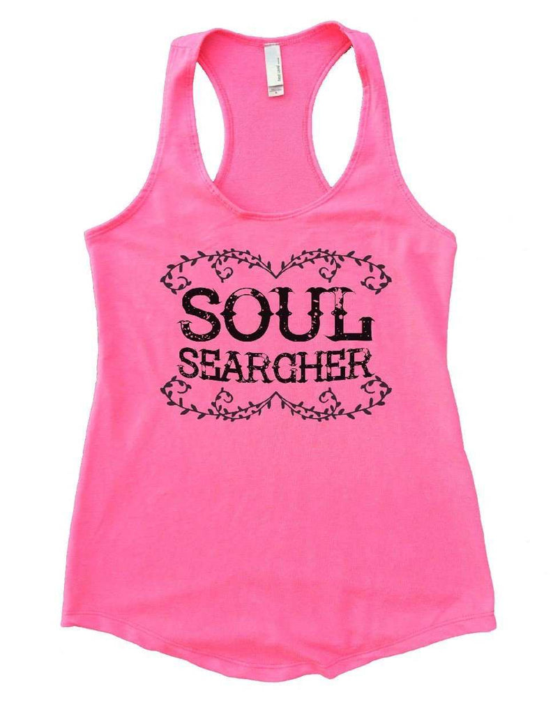 SOUL SEARCHER Womens Workout Tank Top Funny Shirt Small / Heather Pink