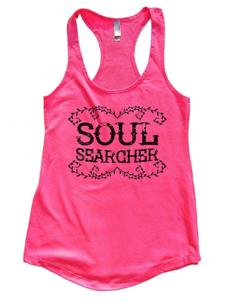 SOUL SEARCHER Womens Workout Tank Top Funny Shirt Small / Hot Pink