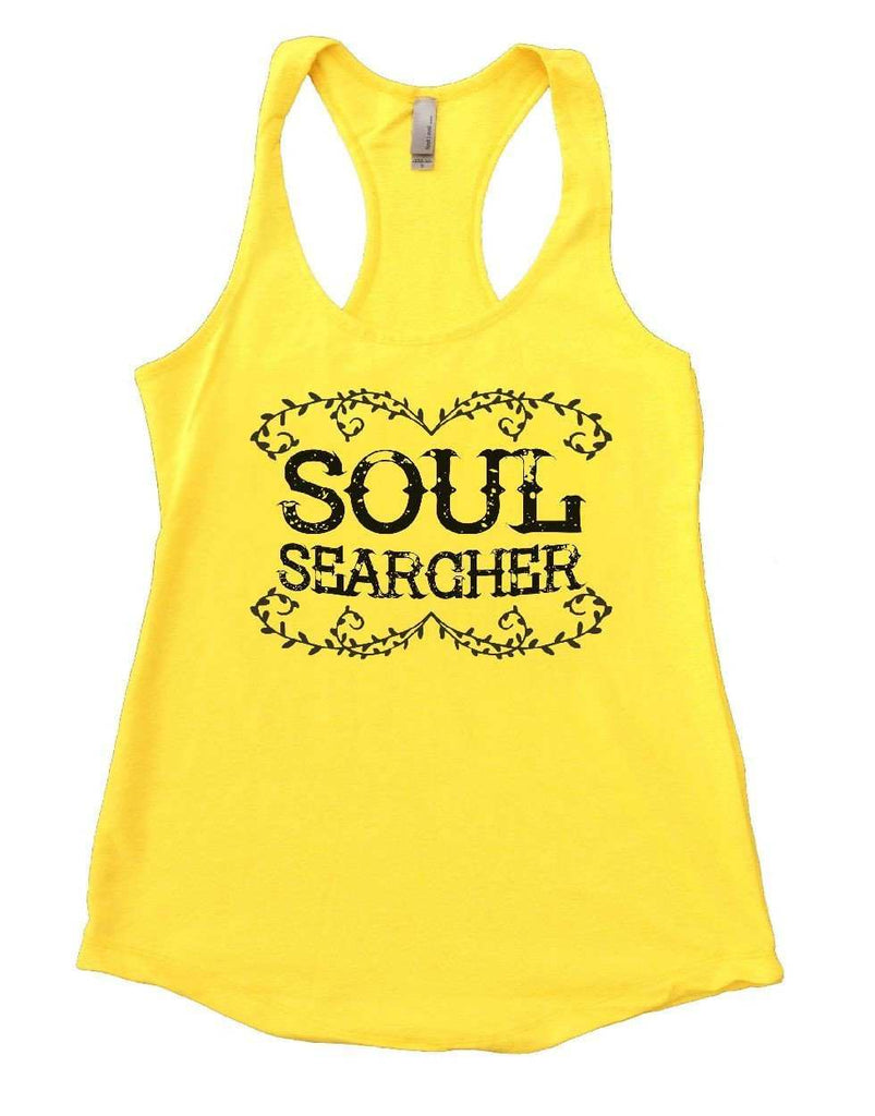 SOUL SEARCHER Womens Workout Tank Top Funny Shirt Small / Yellow