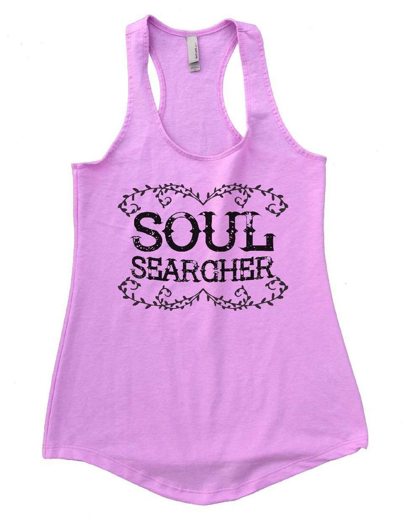 SOUL SEARCHER Womens Workout Tank Top Funny Shirt Small / Lilac