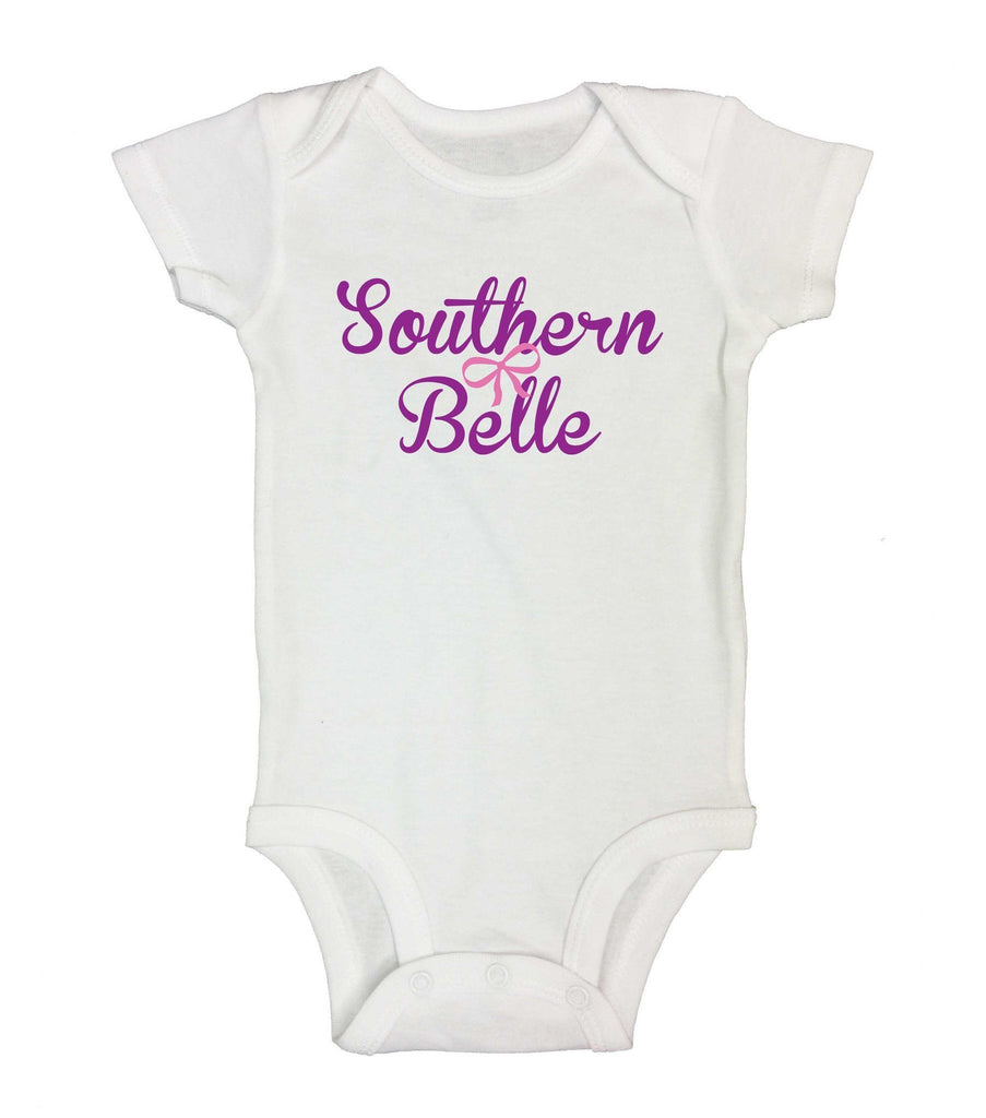 Southern Belle Funny Kids Onesie Funny Shirt Short Sleeve 0-3 Months