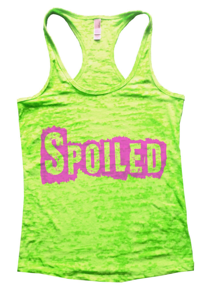 Spoiled Burnout Tank Top By Funny Threadz Funny Shirt Small / Neon Green