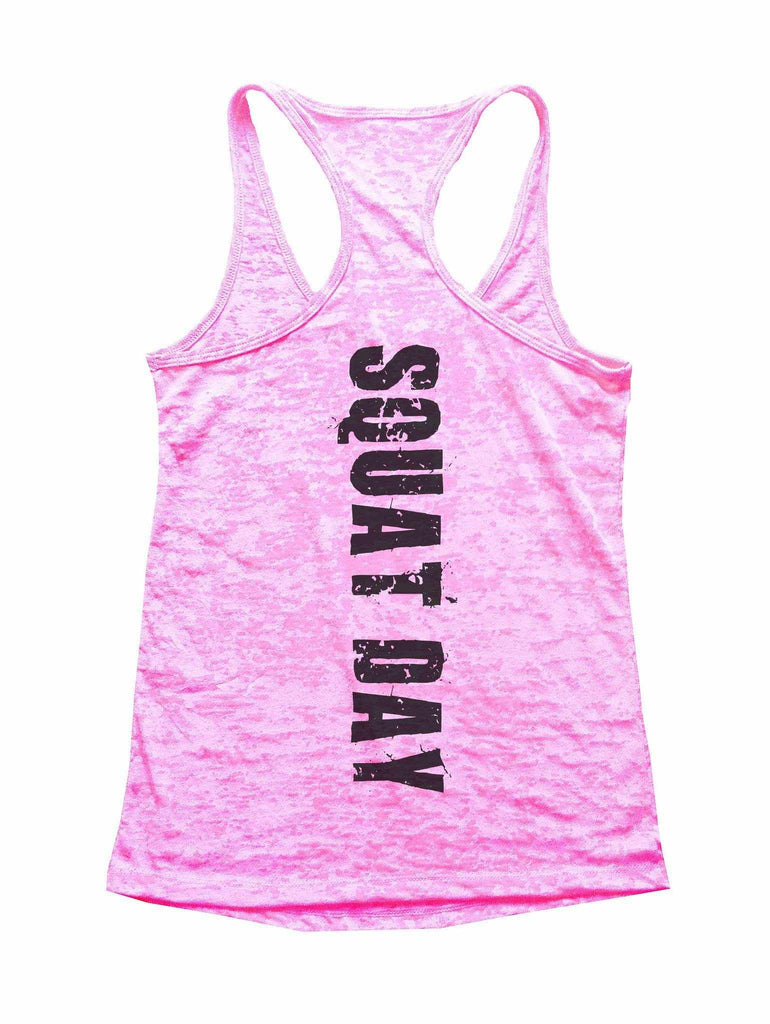 Squat Day Burnout Tank Top By Funny Threadz Funny Shirt Small / Light Pink