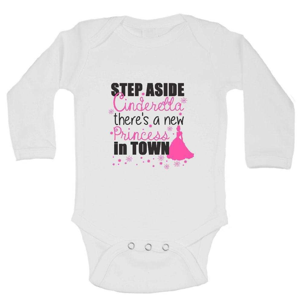 Step Aside Cinderella There's A New Princess In Town FUNNY KIDS ONESIE Funny Shirt Long Sleeve 0-3 Months