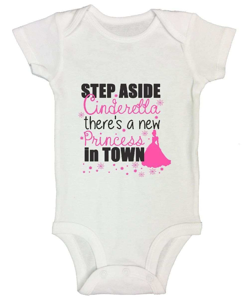 Step Aside Cinderella There's A New Princess In Town FUNNY KIDS ONESIE Funny Shirt Short Sleeve 0-3 Months