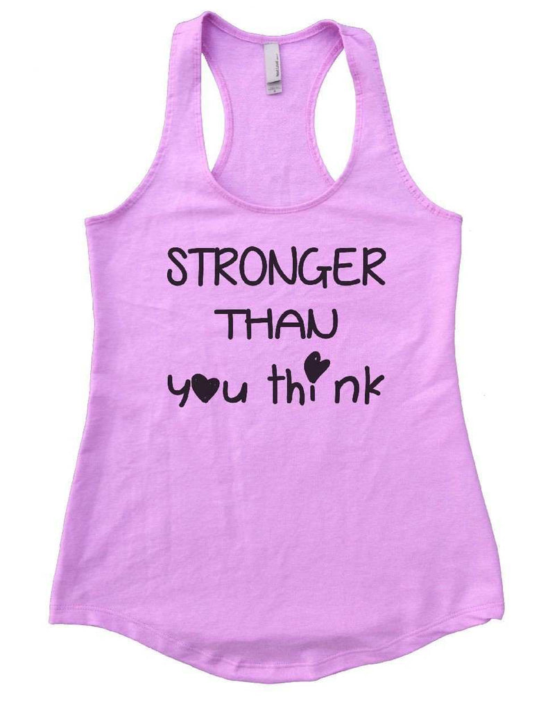 STRONGER THAN You Think Womens Workout Tank Top Funny Shirt Small / Lilac