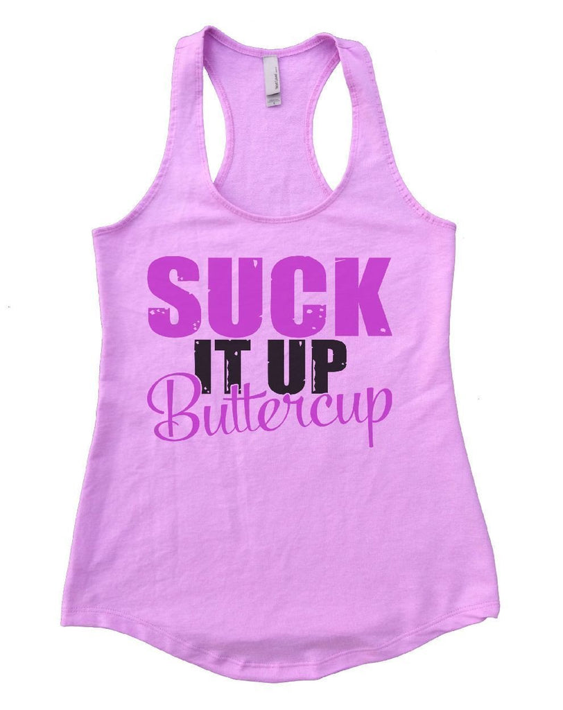 SUCK IT UP Buttercup Womens Workout Tank Top Funny Shirt Small / Lilac