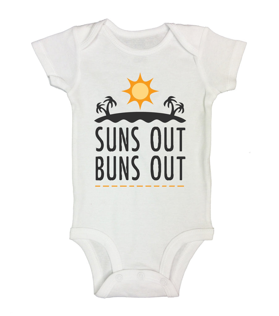 Suns Out Buns Out Funny Kids Onesie Funny Shirt Short Sleeve 0-3 Months