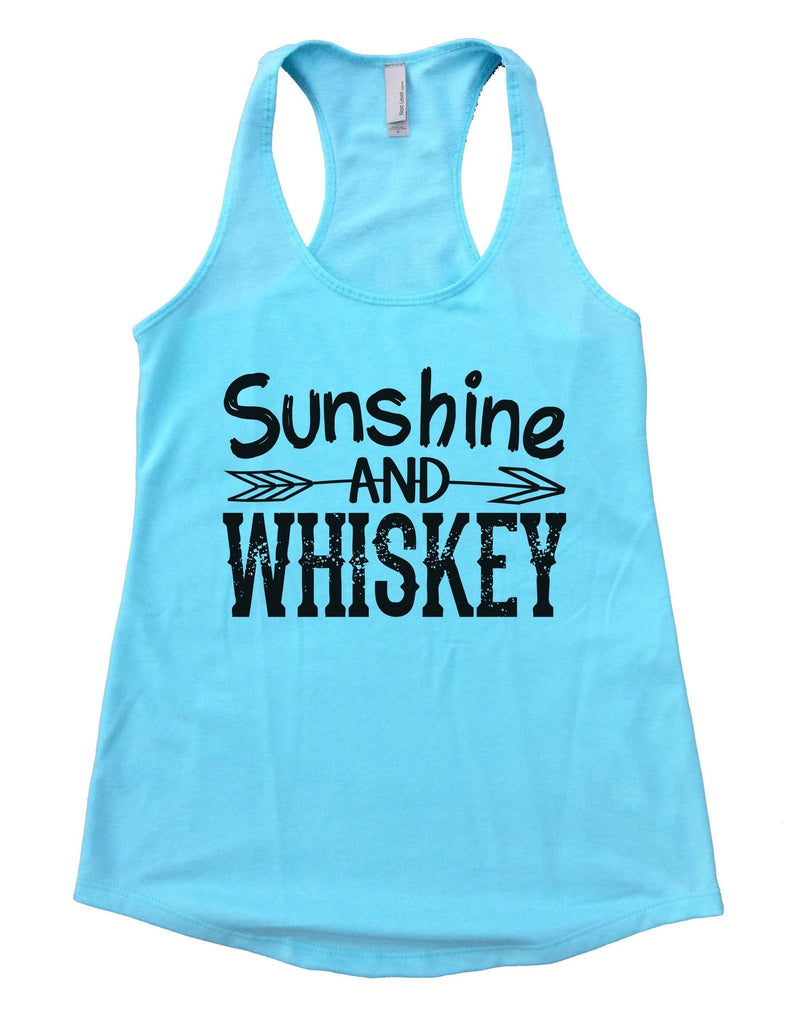 Sunshine And Whiskey Womens Workout Tank Top Funny Shirt Small / Cancun Blue