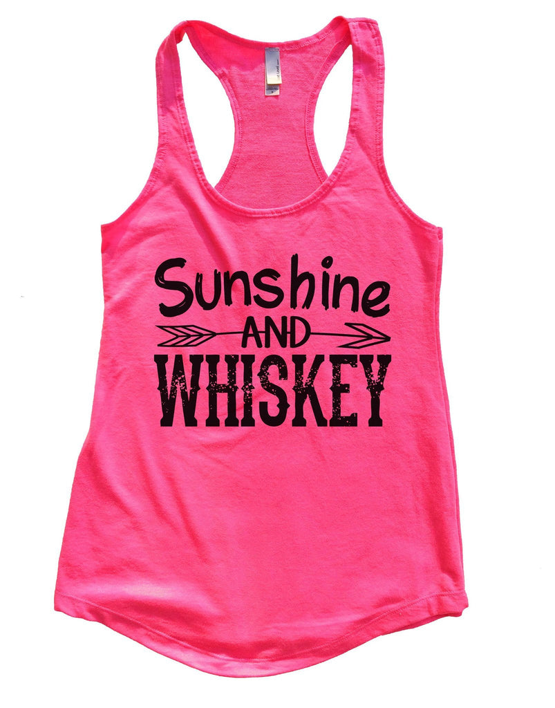 Sunshine And Whiskey Womens Workout Tank Top Funny Shirt Small / Hot Pink