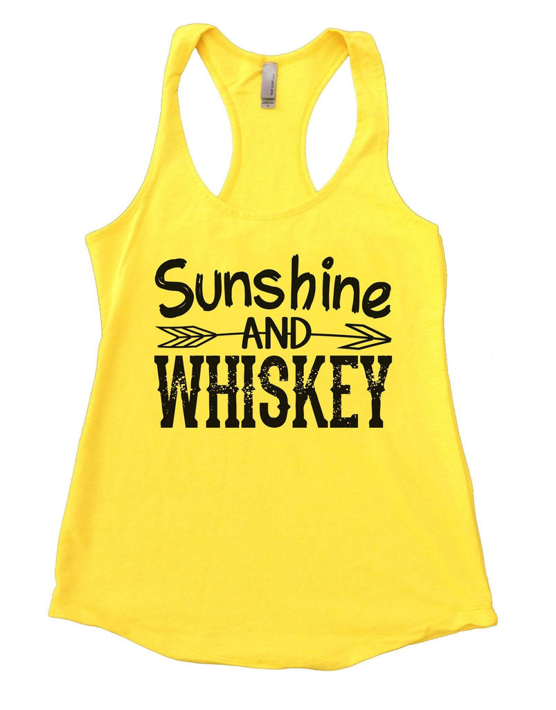 Sunshine And Whiskey Womens Workout Tank Top Funny Shirt Small / Yellow