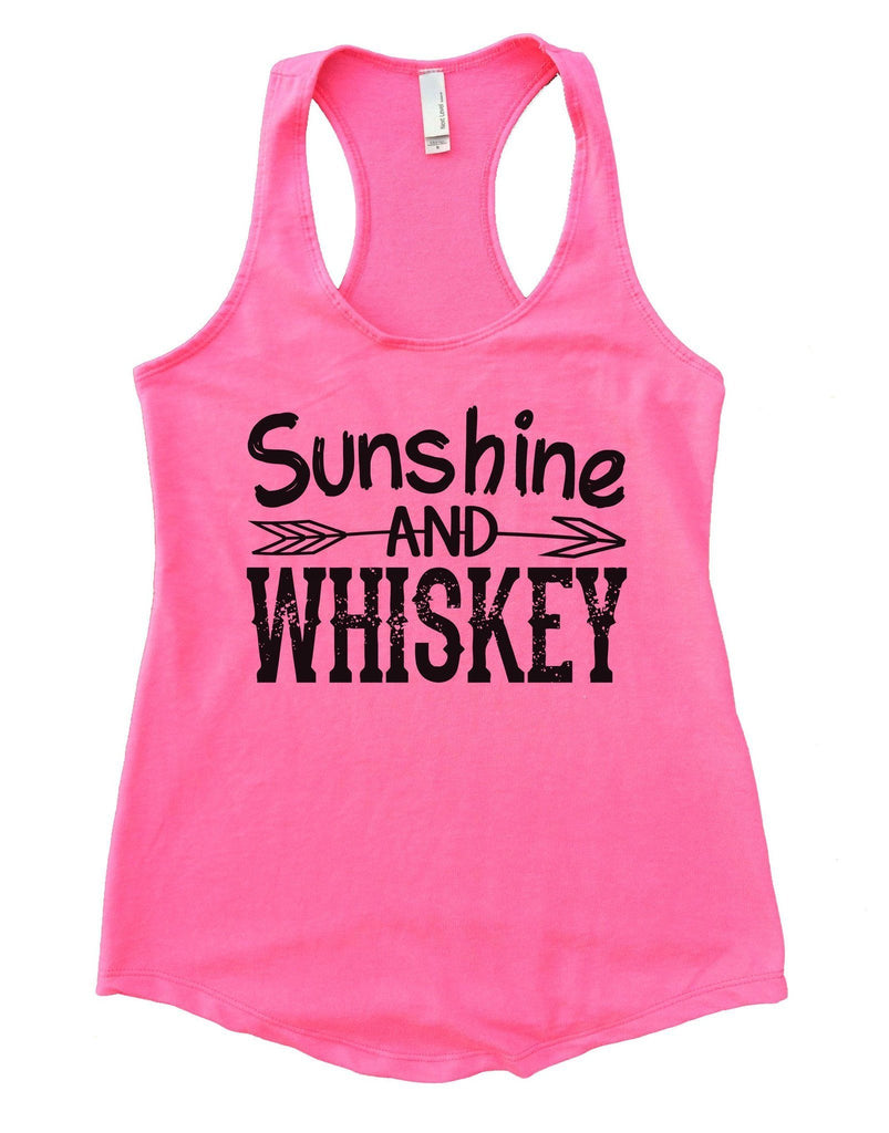 Sunshine And Whiskey Womens Workout Tank Top Funny Shirt Small / Heather Pink