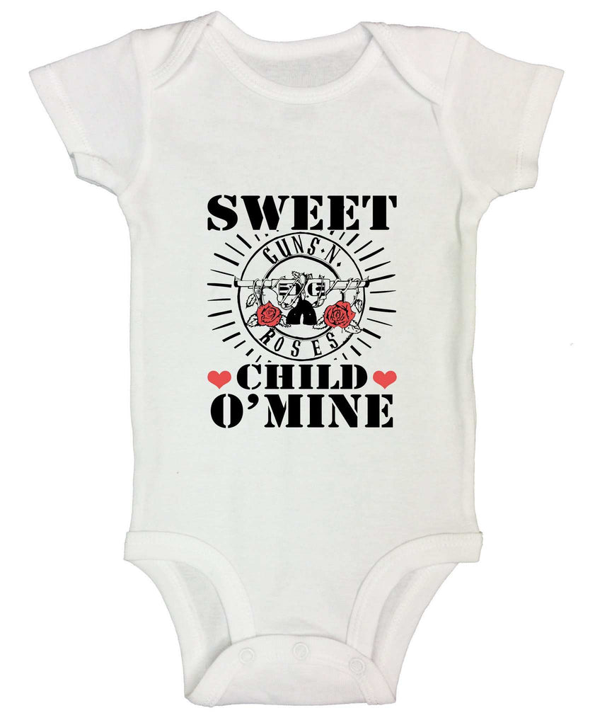Sweet Child O'Mine Funny Kids Onesie Funny Shirt Short Sleeve 0-3 Months