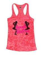 Swole Sisters Burnout Tank Top By Funny Threadz Funny Shirt Small / Shocking Pink