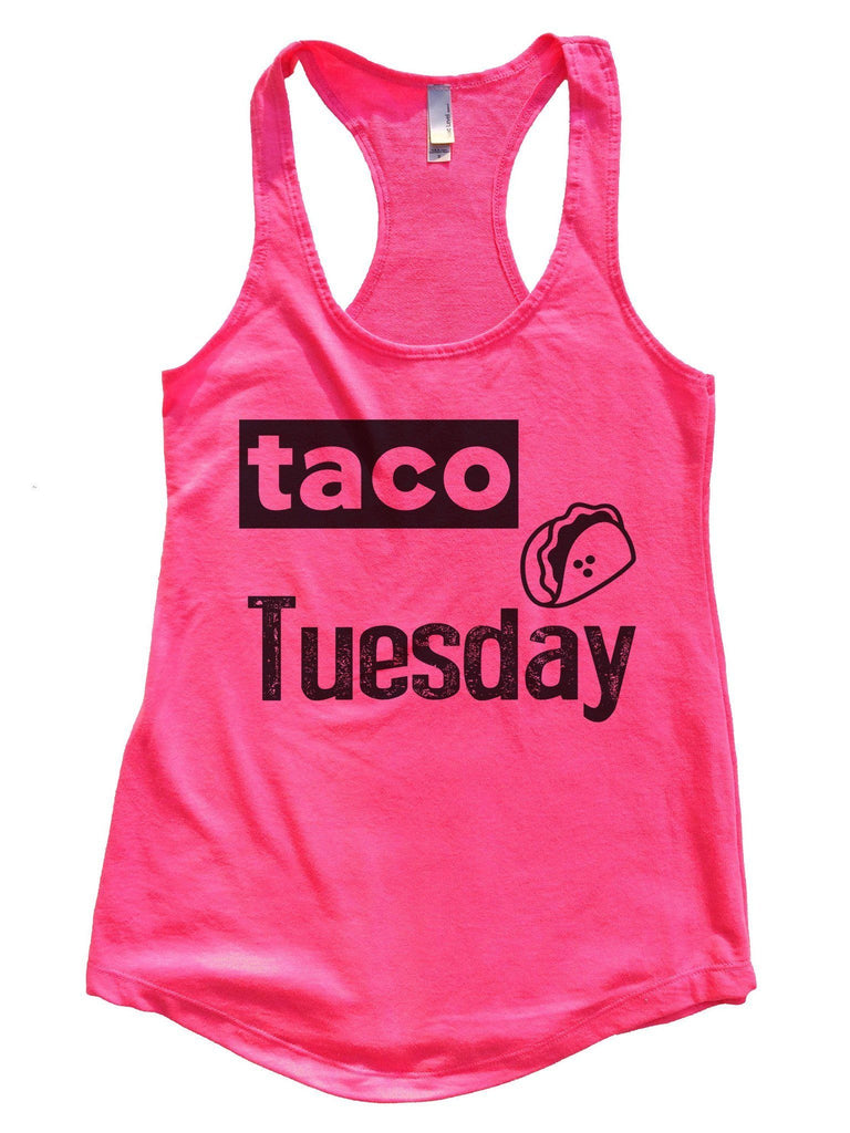 Taco Tuesday Womens Workout Tank Top Funny Shirt Small / Hot Pink