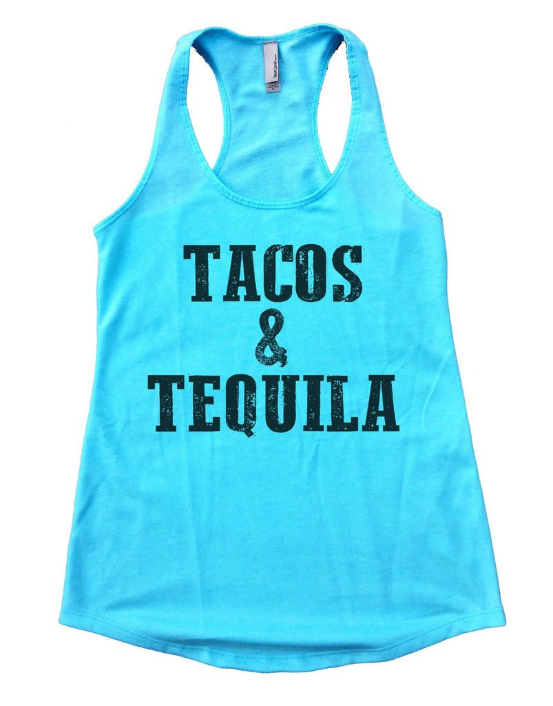 Tacos & Tequila Womens Workout Tank Top Funny Shirt Small / Cancun Blue