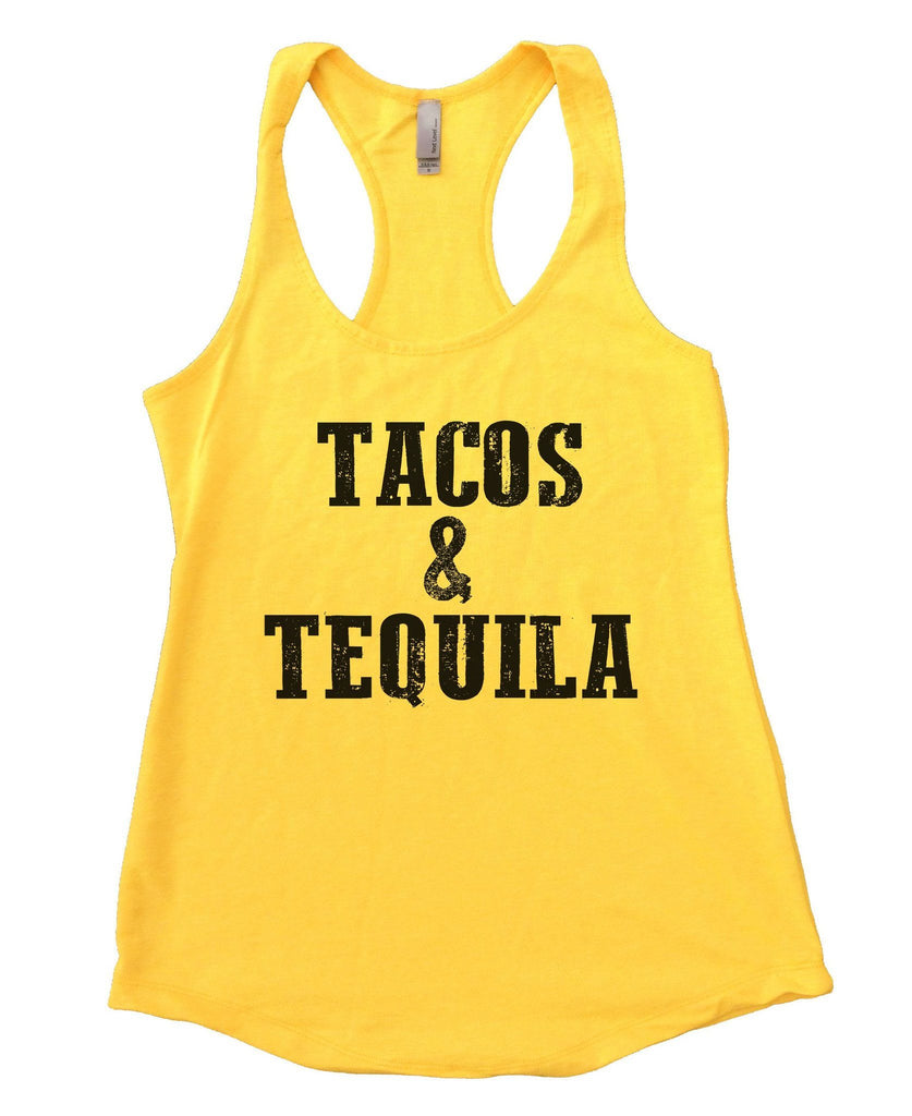 Tacos & Tequila Womens Workout Tank Top Funny Shirt Small / Neon Yellow