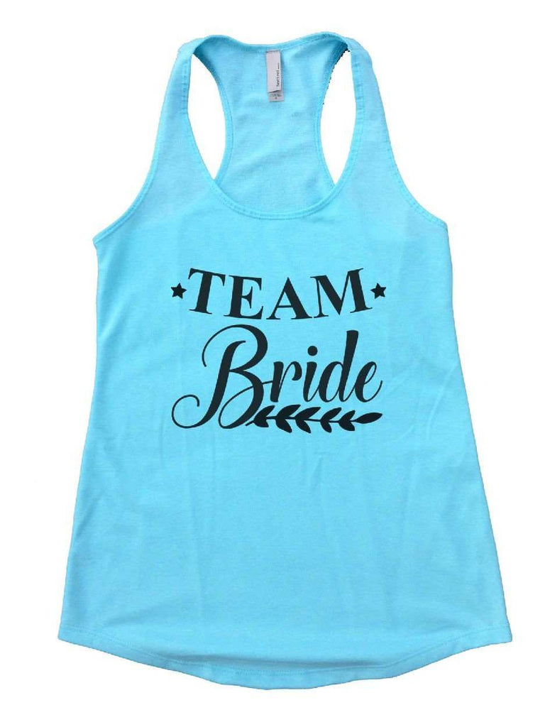 Team Bride Womens Workout Tank Top Funny Shirt Small / Cancun Blue